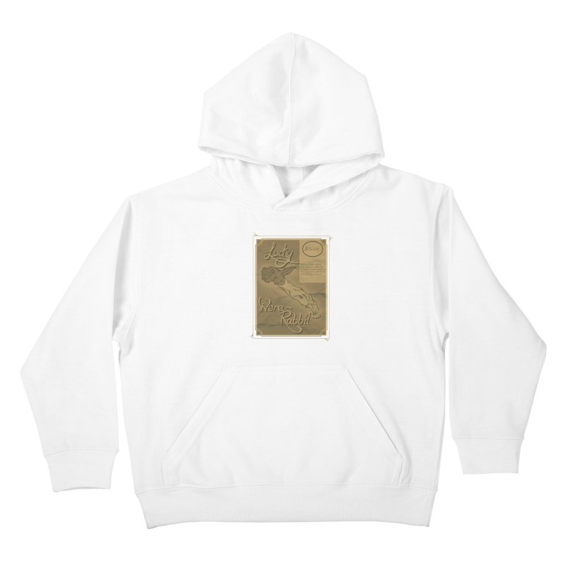 Lucky Were-Rabbits foot ad Kids Pullover Hoody by Calahorra Artist Shop