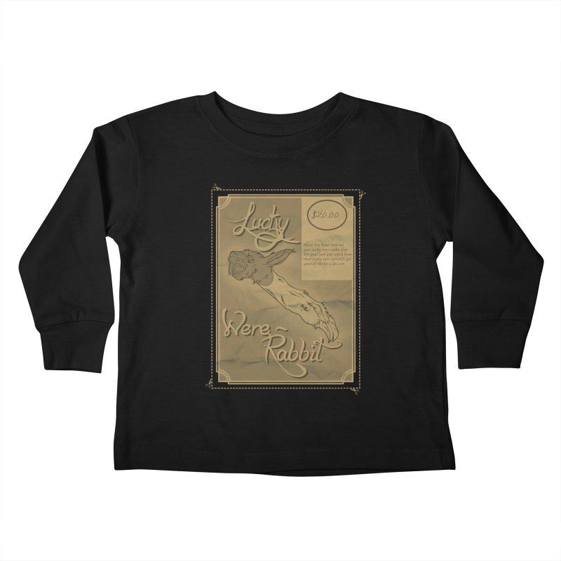 Lucky Were-Rabbits foot ad Kids Toddler Longsleeve T-Shirt by Calahorra Artist Shop