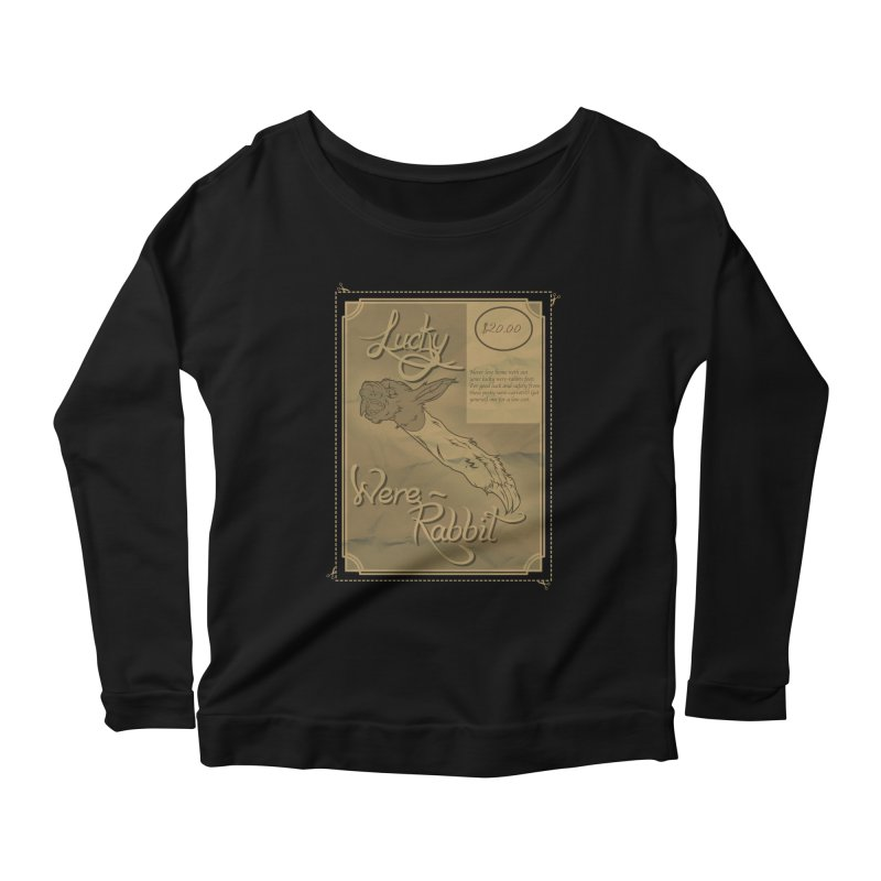 Lucky Were-Rabbits foot ad Women's Longsleeve Scoopneck  by Calahorra Artist Shop