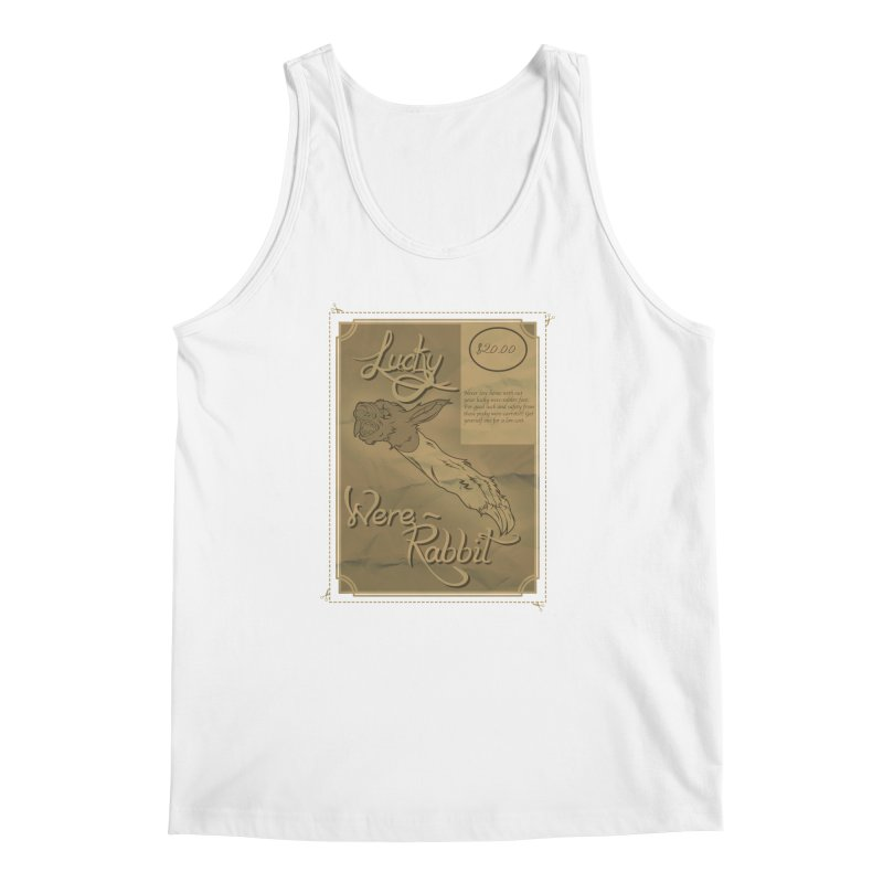 Lucky Were-Rabbits foot ad Men's Tank by Calahorra Artist Shop