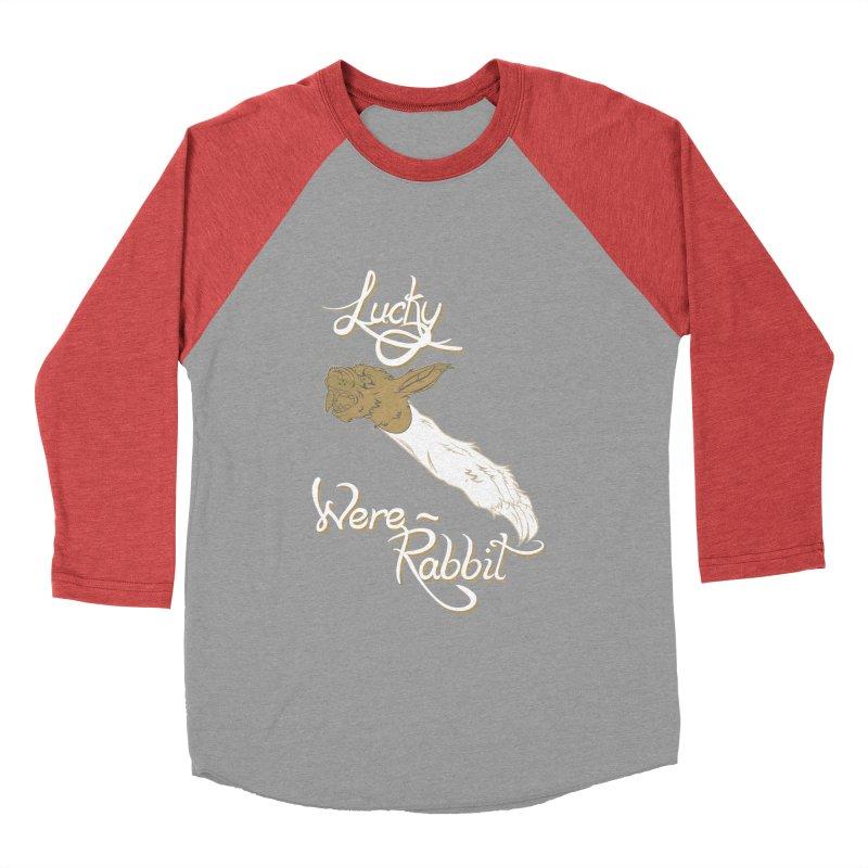 Lucky Were-Rabbits foot Women's Baseball Triblend T-Shirt by Calahorra Artist Shop