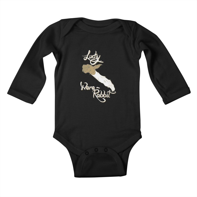 Lucky Were-Rabbits foot Kids Baby Longsleeve Bodysuit by Calahorra Artist Shop