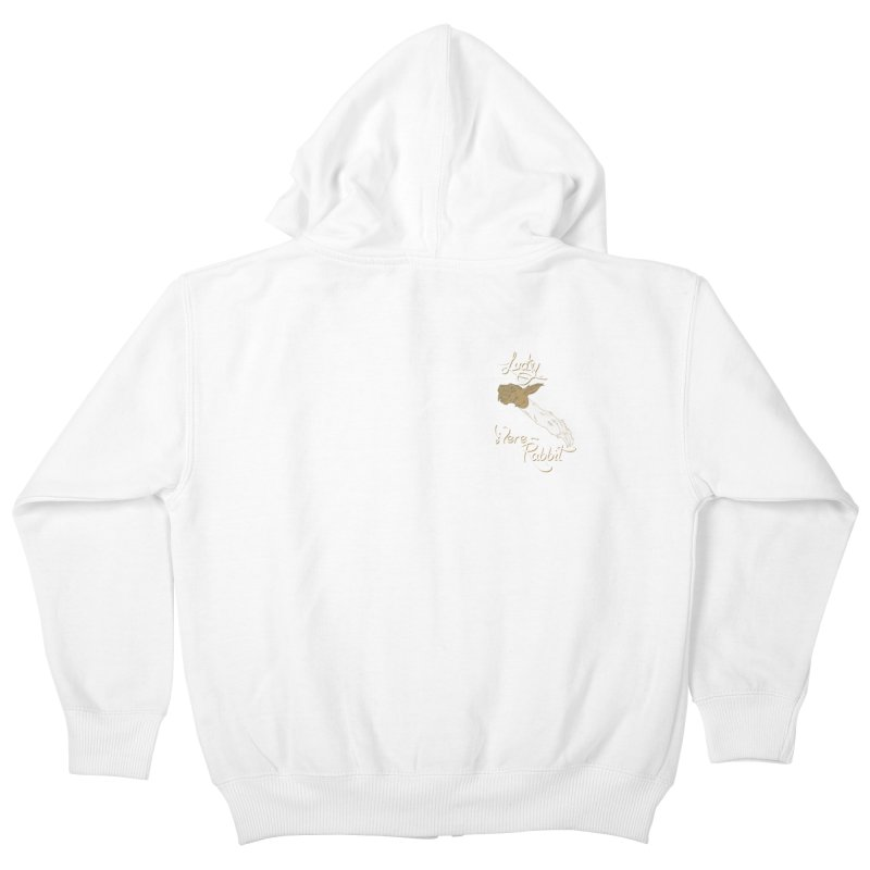 Lucky Were-Rabbits foot pocket Kids Zip-Up Hoody by Calahorra Artist Shop