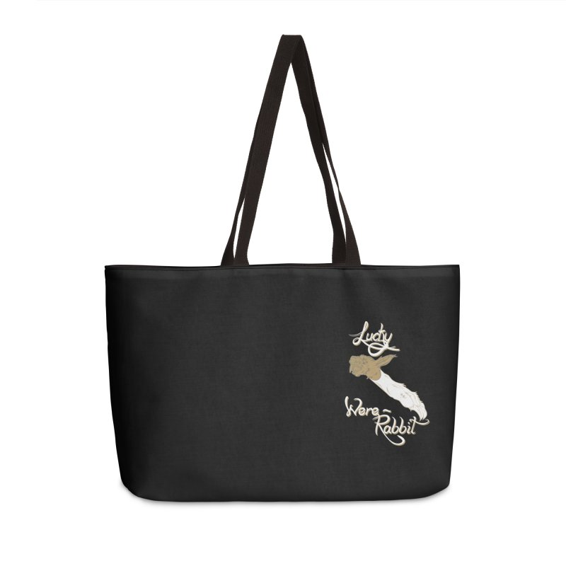 Lucky Were-Rabbits foot pocket Accessories Weekender Bag Bag by Calahorra Artist Shop
