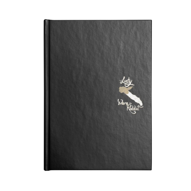Lucky Were-Rabbits foot pocket Accessories Lined Journal Notebook by Calahorra Artist Shop