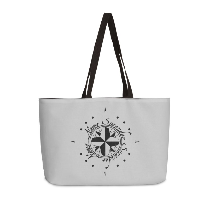 Never Surrender Accessories Weekender Bag Bag by Calahorra Artist Shop