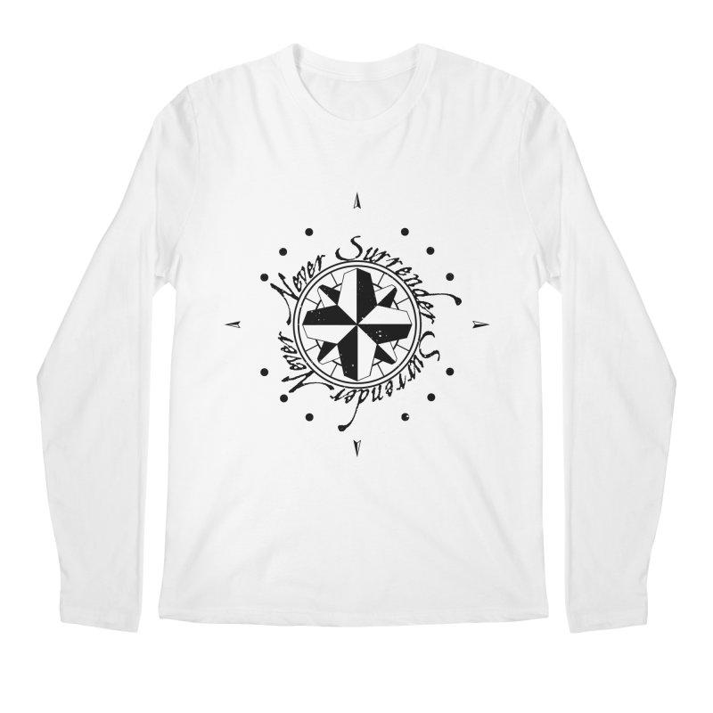 Never Surrender Men's Regular Longsleeve T-Shirt by Calahorra Artist Shop