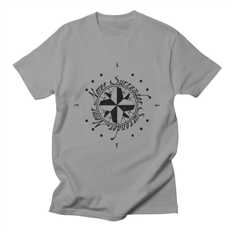 Never Surrender Men's Regular T-Shirt by Calahorra Artist Shop
