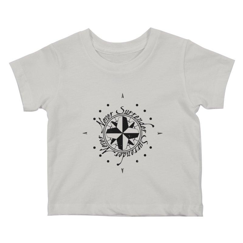 Never Surrender Kids Baby T-Shirt by Calahorra Artist Shop