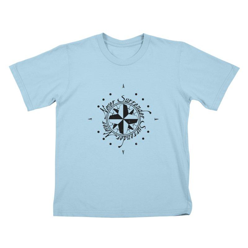 Never Surrender Kids T-Shirt by Calahorra Artist Shop