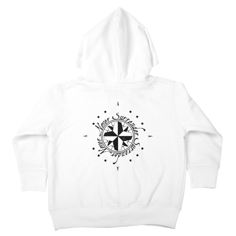 Never Surrender Kids Toddler Zip-Up Hoody by Calahorra Artist Shop