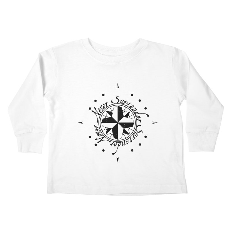 Never Surrender Kids Toddler Longsleeve T-Shirt by Calahorra Artist Shop