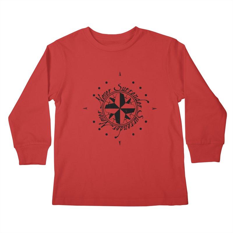 Never Surrender Kids Longsleeve T-Shirt by Calahorra Artist Shop