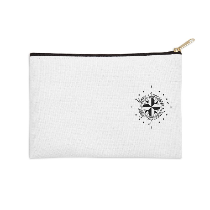 Never Surrender pocket Accessories Zip Pouch by Calahorra Artist Shop