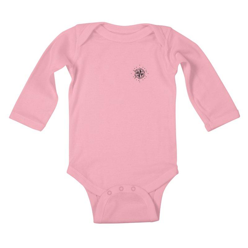 Never Surrender pocket Kids Baby Longsleeve Bodysuit by Calahorra Artist Shop