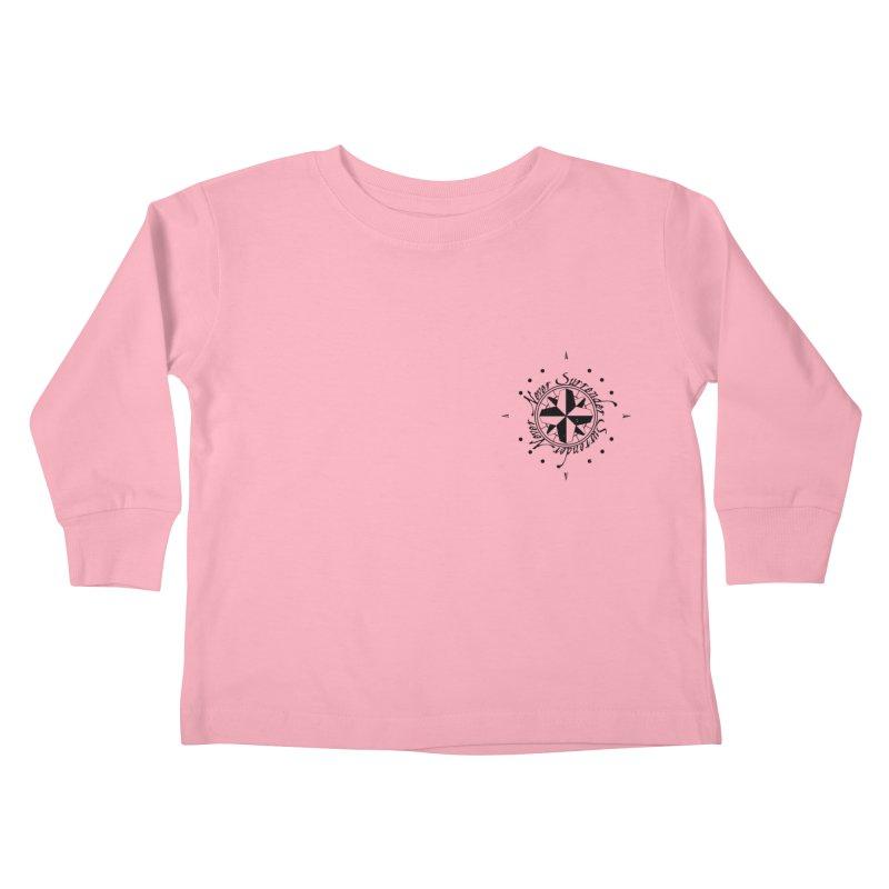 Never Surrender pocket Kids Toddler Longsleeve T-Shirt by Calahorra Artist Shop