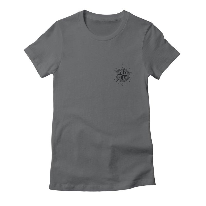 Never Surrender pocket Women's Fitted T-Shirt by Calahorra Artist Shop