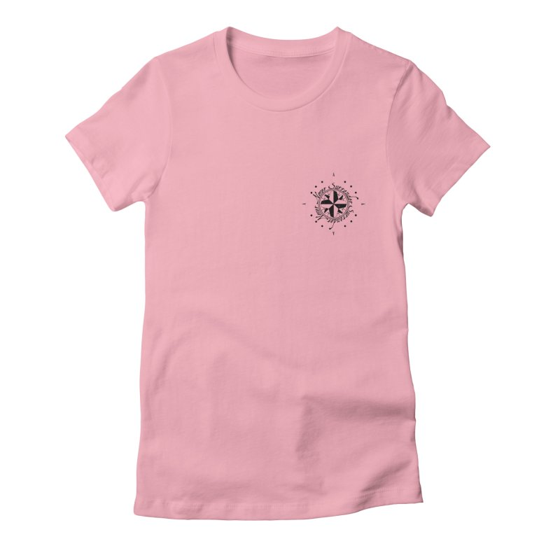 Never Surrender pocket Women's Fitted T-Shirt by Calahorra Artist Shop