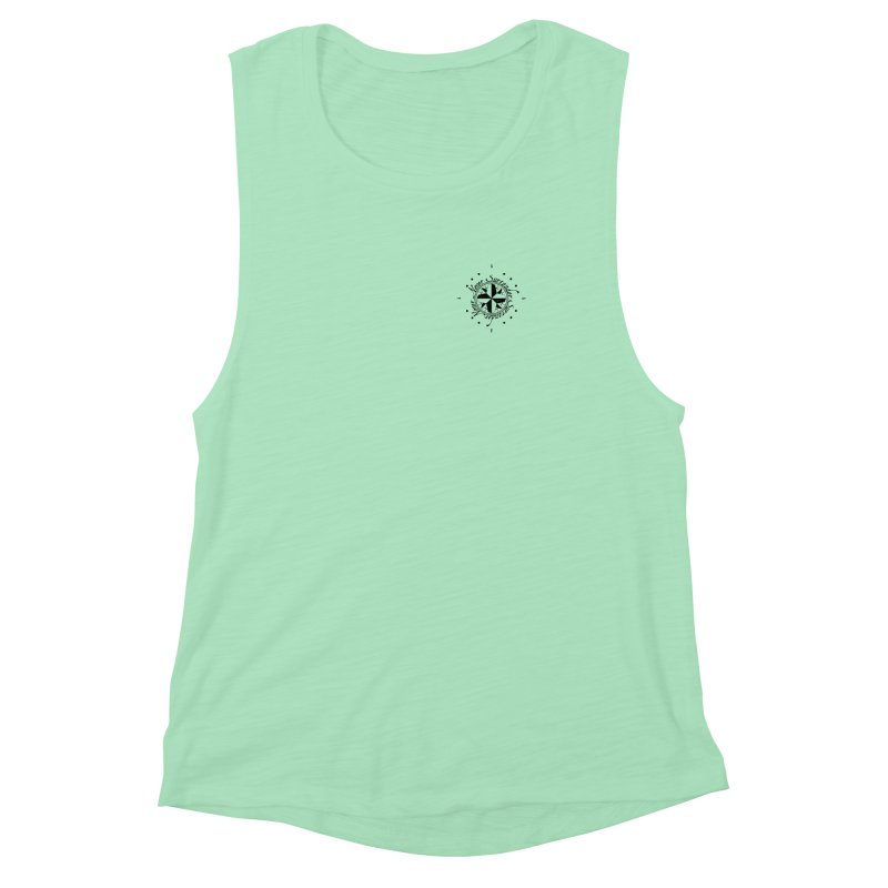 Never Surrender pocket Women's Muscle Tank by Calahorra Artist Shop