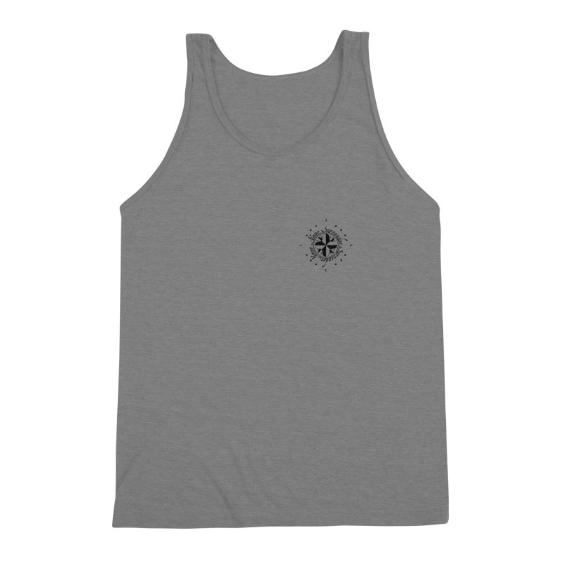 Never Surrender pocket Men's Triblend Tank by Calahorra Artist Shop