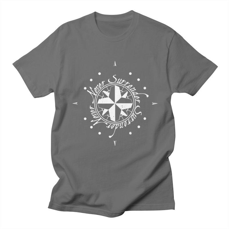 Never Surrender in white  Men's T-Shirt by Calahorra Artist Shop