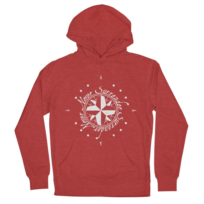 Never Surrender in white  Women's Pullover Hoody by Calahorra Artist Shop