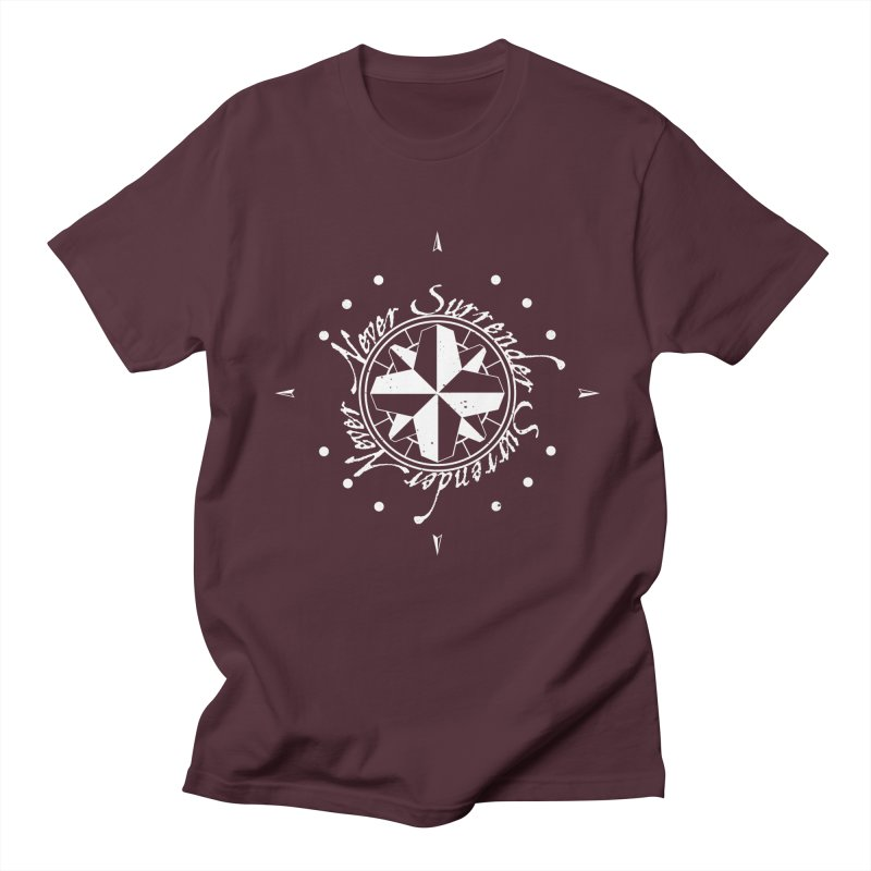 Never Surrender in white  Men's Regular T-Shirt by Calahorra Artist Shop