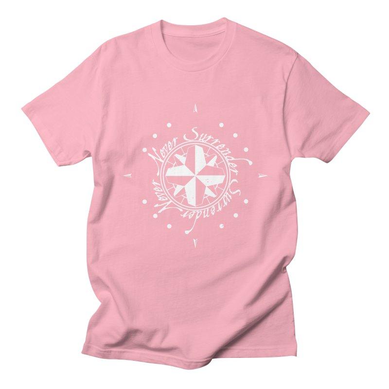 Never Surrender in white  Women's Regular Unisex T-Shirt by Calahorra Artist Shop