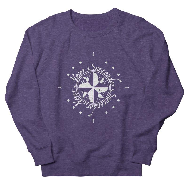 Never Surrender in white  Women's Sweatshirt by Calahorra Artist Shop
