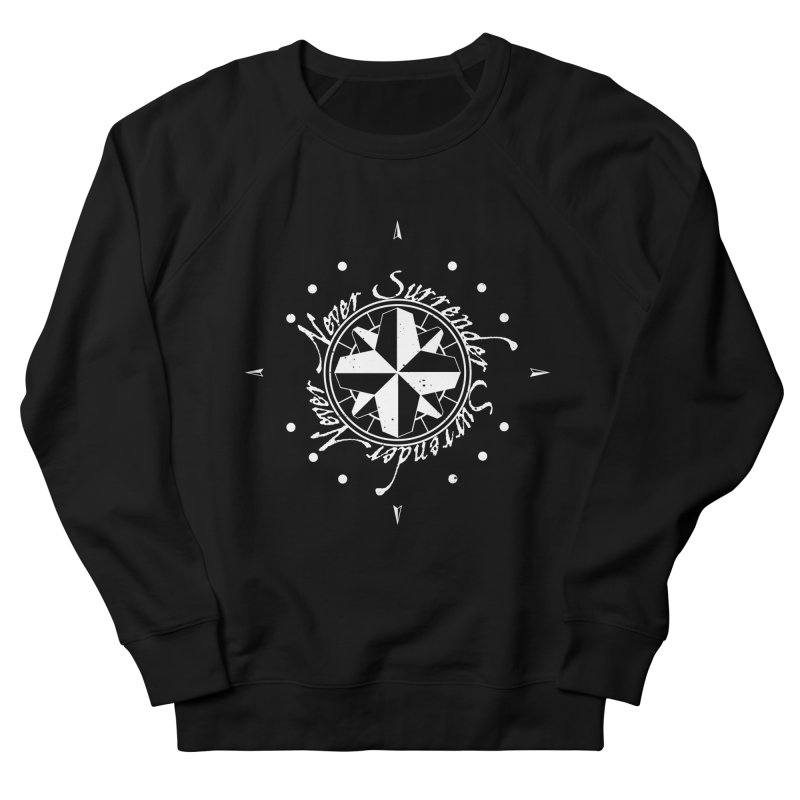 Never Surrender in white  Women's French Terry Sweatshirt by Calahorra Artist Shop