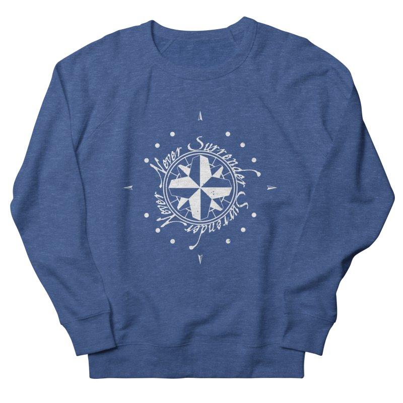 Never Surrender in white  Men's Sweatshirt by Calahorra Artist Shop