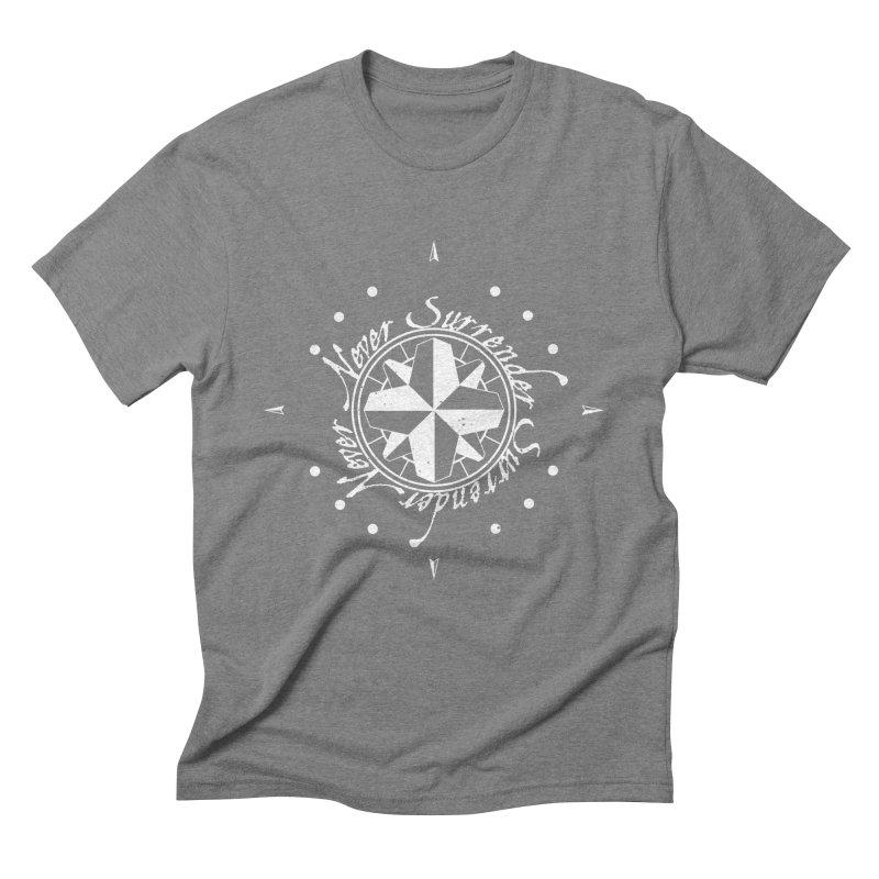 Never Surrender in white  Men's Triblend T-Shirt by Calahorra Artist Shop