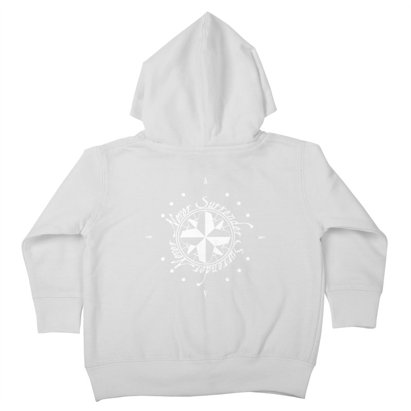 Never Surrender in white  Kids Toddler Zip-Up Hoody by Calahorra Artist Shop