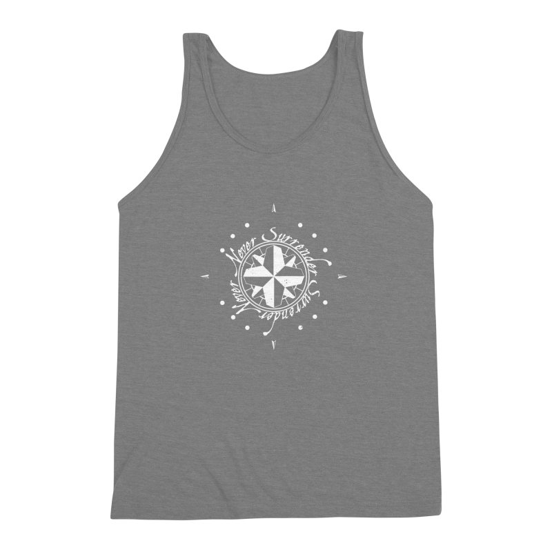 Never Surrender in white  Men's Triblend Tank by Calahorra Artist Shop
