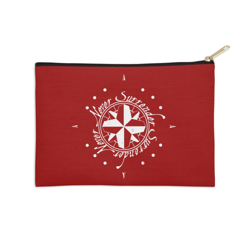 Never Surrender in white  Accessories Zip Pouch by Calahorra Artist Shop