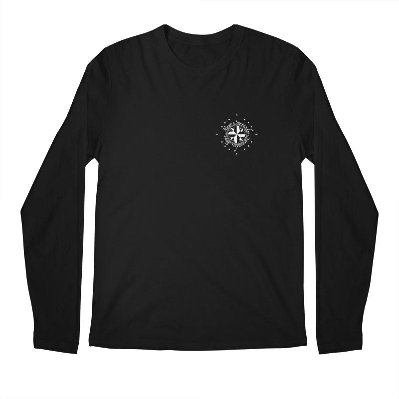 Never Surrender in white pocket Men's Regular Longsleeve T-Shirt by Calahorra Artist Shop