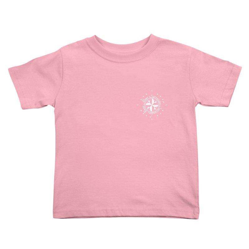 Never Surrender in white pocket Kids Toddler T-Shirt by Calahorra Artist Shop