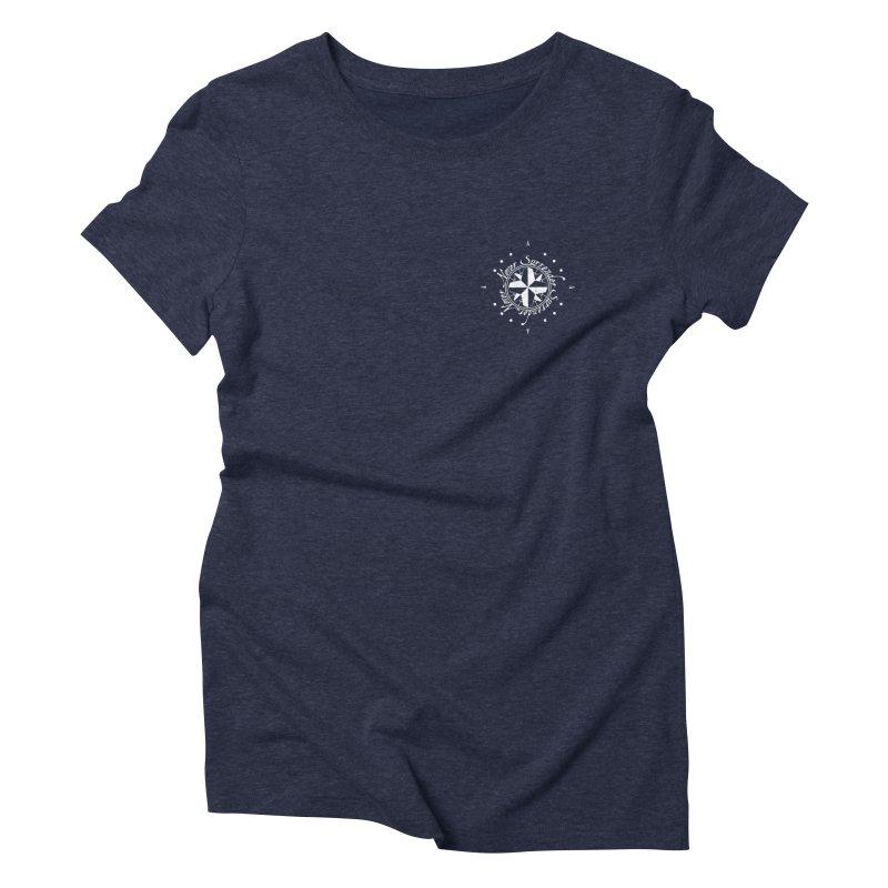Never Surrender in white pocket Women's T-Shirt by Calahorra Artist Shop