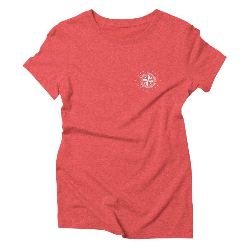 Never Surrender in white pocket Women's Triblend T-Shirt by Calahorra Artist Shop