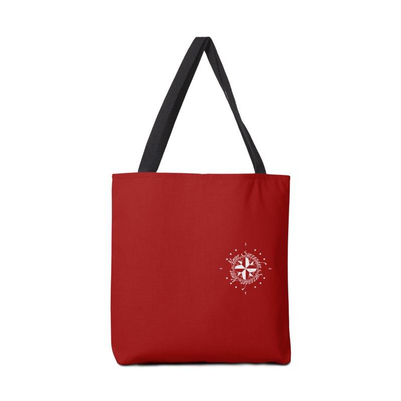 Never Surrender in white pocket Accessories Bag by Calahorra Artist Shop