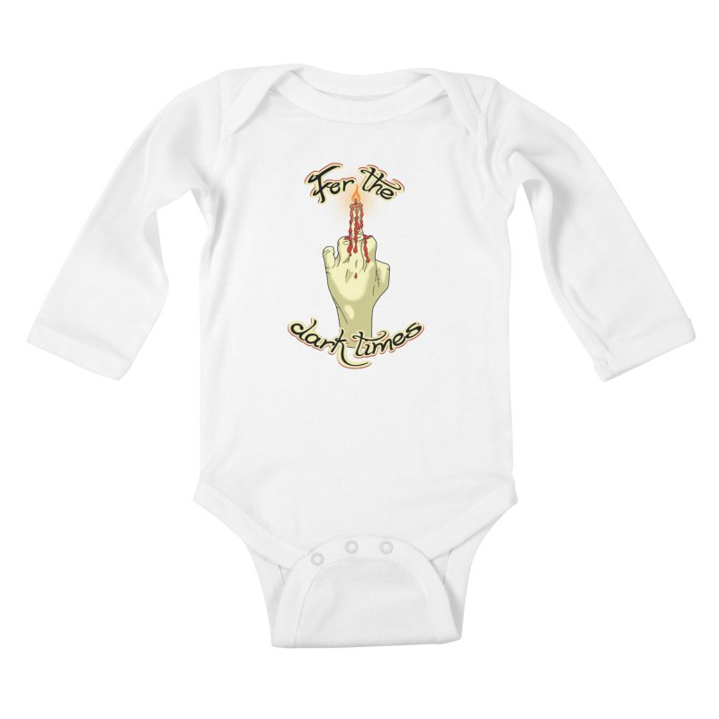 For The Dark Times (Candle) Kids Baby Longsleeve Bodysuit by Calahorra Artist Shop