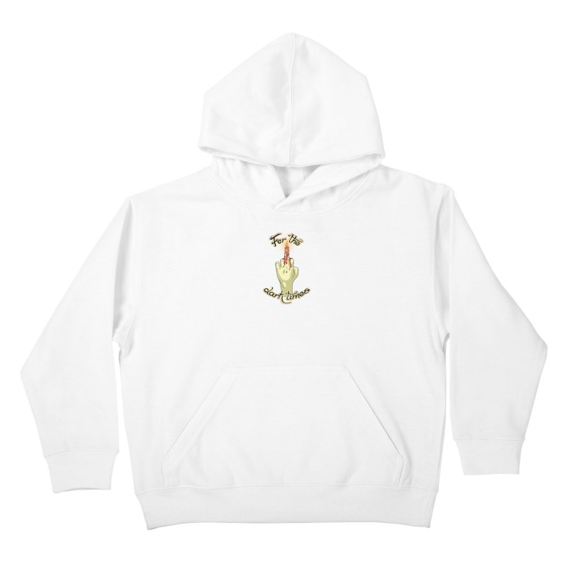For The Dark Times (Candle) Kids Pullover Hoody by Calahorra Artist Shop