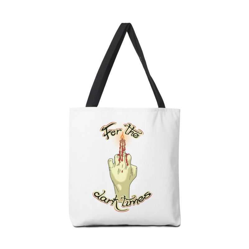 For The Dark Times (Candle) Accessories Bag by Calahorra Artist Shop
