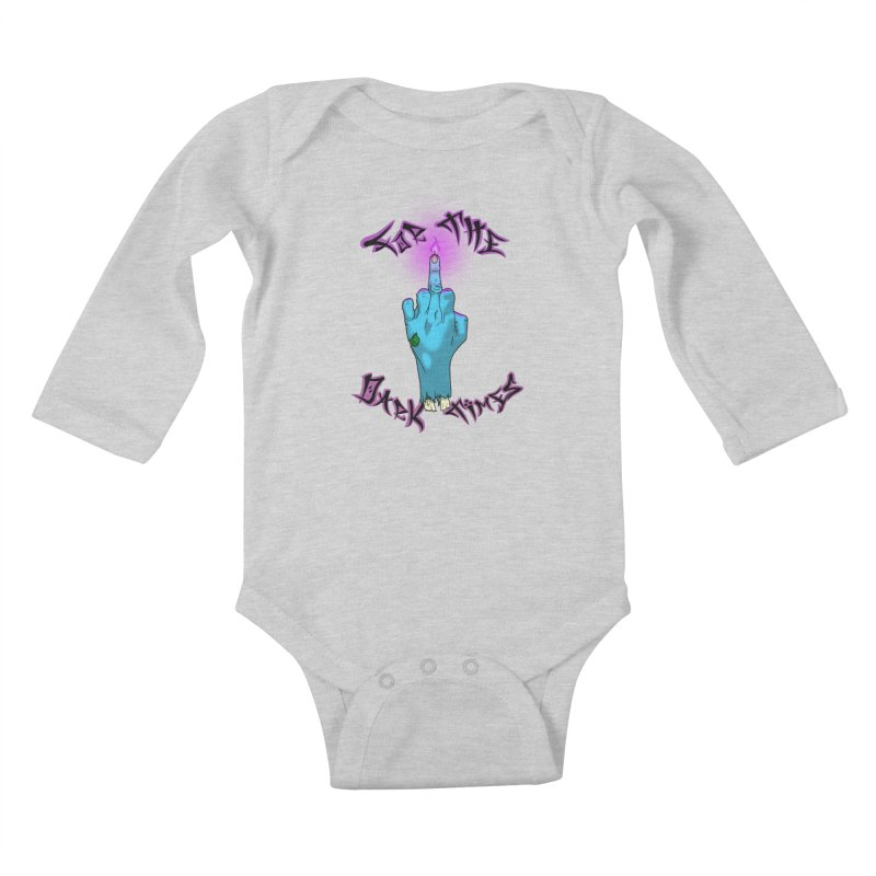 For The Dark Times (Zombie) Kids Baby Longsleeve Bodysuit by Calahorra Artist Shop