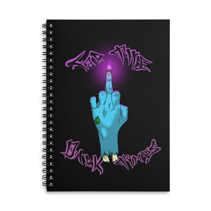 For The Dark Times (Zombie) Accessories Lined Spiral Notebook by Calahorra Artist Shop