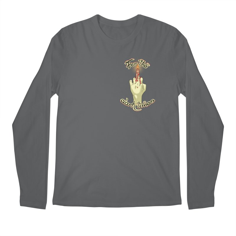 For The Dark Times (Candle Pocket) Men's Longsleeve T-Shirt by Calahorra Artist Shop