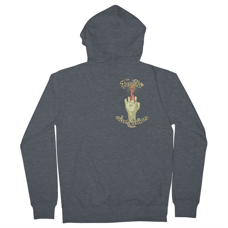 For The Dark Times (Candle Pocket) Women's French Terry Zip-Up Hoody by Calahorra Artist Shop
