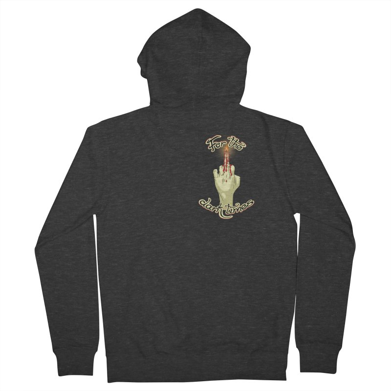 For The Dark Times (Candle Pocket) Men's French Terry Zip-Up Hoody by Calahorra Artist Shop