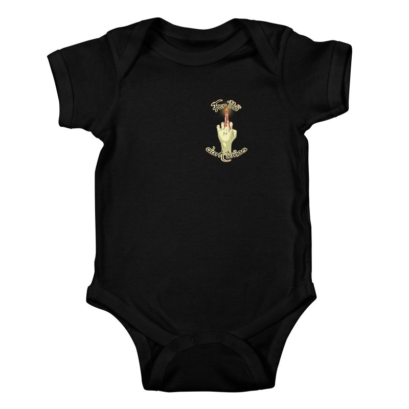 For The Dark Times (Candle Pocket) Kids Baby Bodysuit by Calahorra Artist Shop