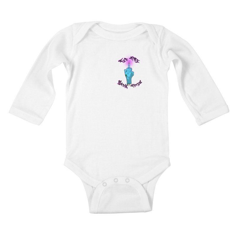 For The Dark Times (Zombie Pocket) Kids Baby Longsleeve Bodysuit by Calahorra Artist Shop